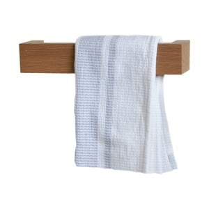 Držák na ručníky 28 cm, světlý dub