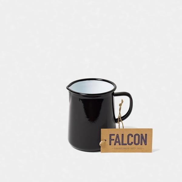 Černý smaltovaný džbán Falcon Enamelware OnePint, 586 ml