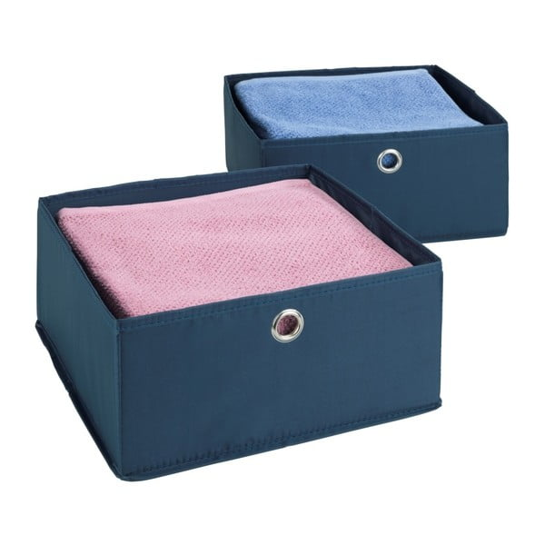 Set 2 cutii pentru sertare Wenko Business, albastru