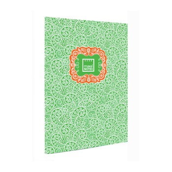 Agendă A7 Makenotes Paisley One, 40 file, verde de la Makenotes