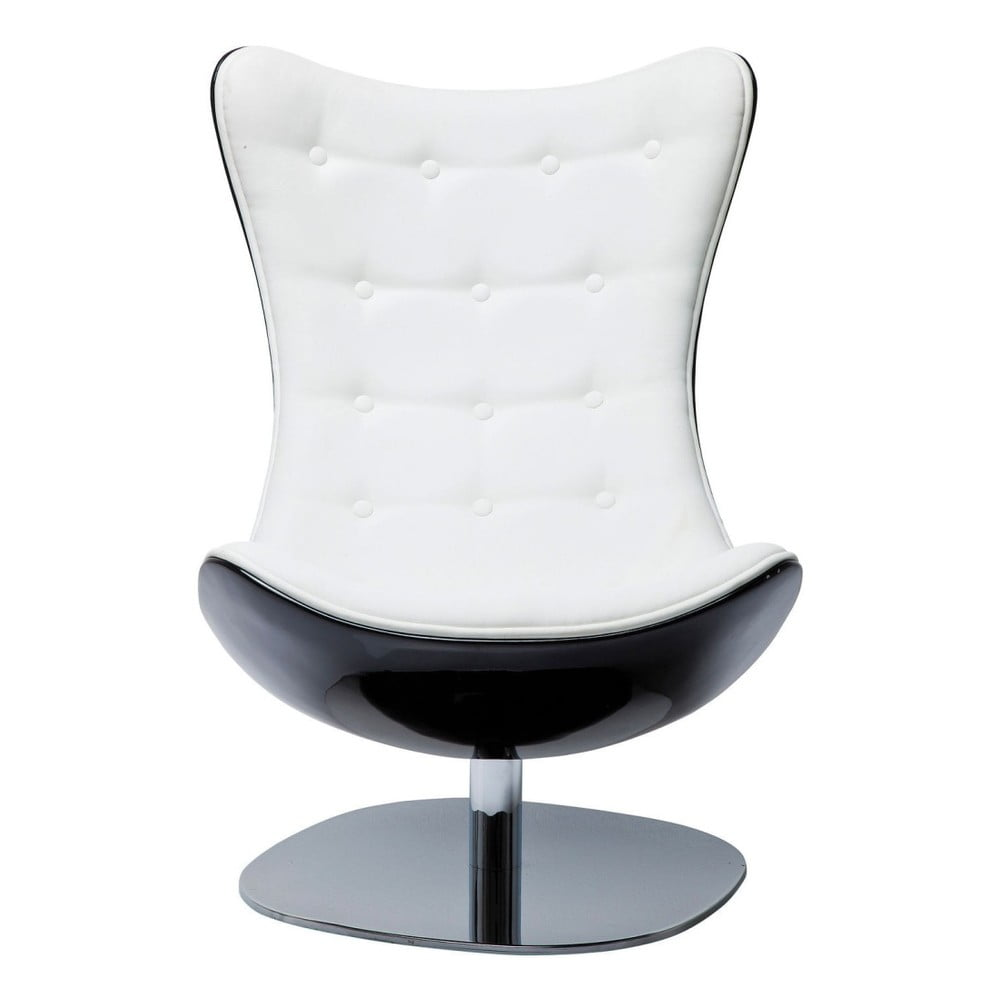 Bílé otočné křeslo Kare Design Atrio