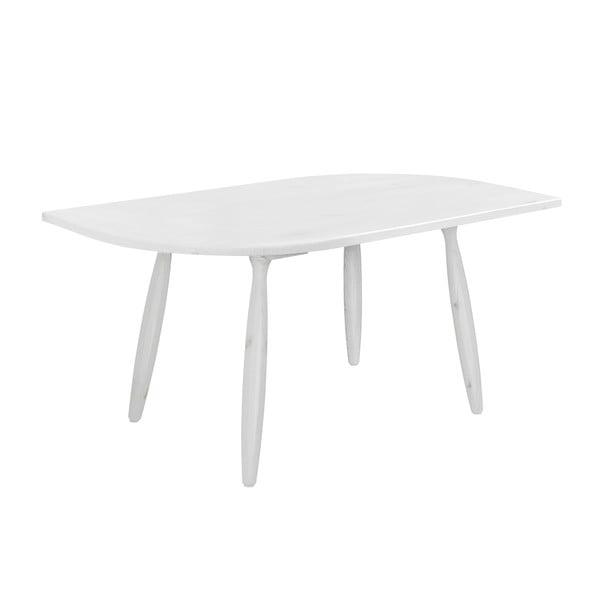 Bílý konferenční stolek z borovicového dřeva Karup Leaf