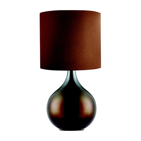 Stolní lampa Searchlight Drum, hnědá