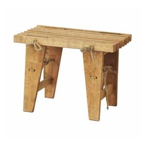 Bancă din lemn de mesteacăn EcoFurn, lungime 60 cm, natural