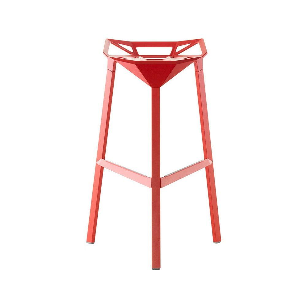 Červená barová židle Magis Officina, výška 84 cm