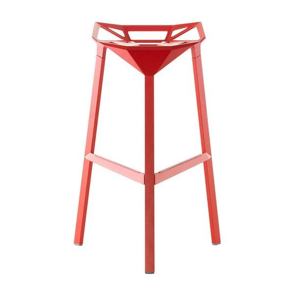 Červená barová židle Magis Officina, výška84cm
