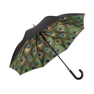Zelený holový deštník s dvojitou vrstvou Von Lilienfeld Peacock Double Layer