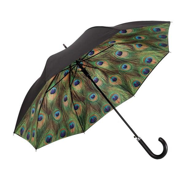 Zelený holový deštník s dvojitou vrstvou Von Lilienfeld Peacock Double Layer, ø 100 cm