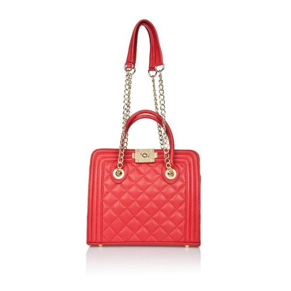 Kožená kabelka Markese 6397 Red