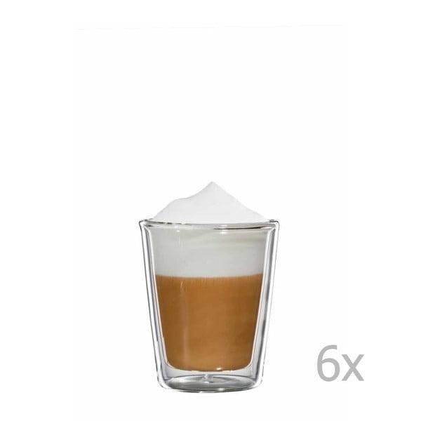 Sada 6 skleněných hrnků na cappuccino bloomix Milano