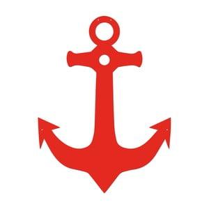 Červená kovová nástěnná dekorace Anchor