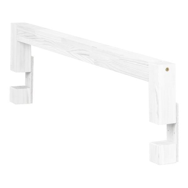 Białe boki do łóżka z drewna świerkowego do łóżka Benlemi Safety,dł.90cm