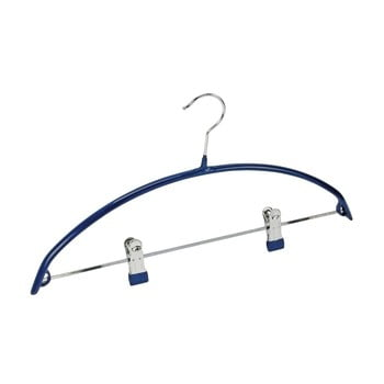 Umeraș antiderapant cu clipsuri pentru haine Wenko Hanger Compact, albastru
