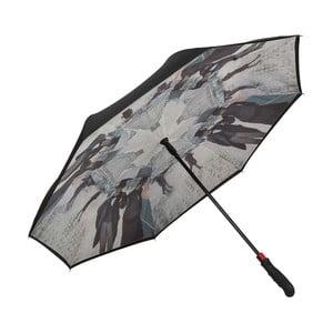 Holový deštník s dvojitou vrstvou Von Lilienfeld Rainy Paris Double Layer