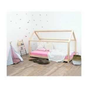 Pat pentru copii, din lemn de molid Benlemi Tery, 90x160cm, natural