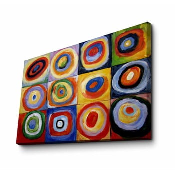 Reproducere tablou pe pânză Kandinsky, 70 x 45 cm de la Unknown