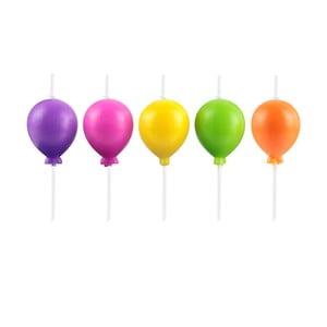 Set 5 lumânări în formă de baloane Le Studio Ballons
