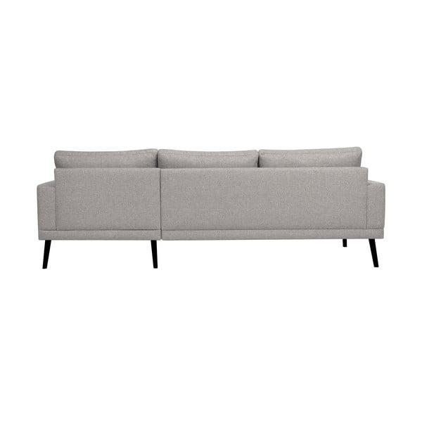 Světle šedá rohová pohovka Windsor & Co Sofas Rigel, pravý roh