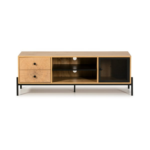 Hnedá TV komoda z borovicového dreva Marckeric Andy, šírka 144 cm