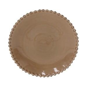 Kakaově hnědý kameninový dezertní talíř Costa Nova Pearl, ⌀22cm