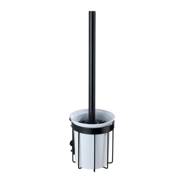 Černý nástěnný WC kartáč Wenko Classic Plus