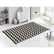 Černý koberec Home De Bleu Zig Zag, 120x180cm