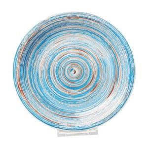 Farfurie din ceramică Kare Design Swirl, ⌀ 27 cm, albastru