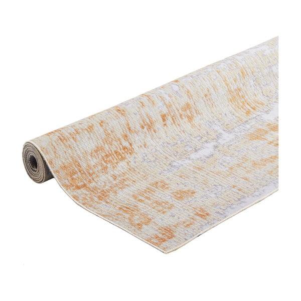 Koberec odolný proti skvrnám Webtappeti Abstract Grey Ochre, 80x150cm