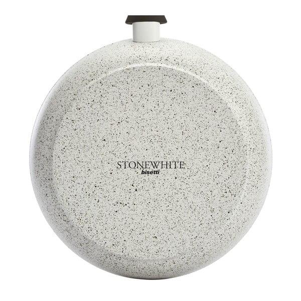 Hrnec s pokličkou a úchyty ve stříbrné barvě Bisetti Stonewhite, výška11,4cm
