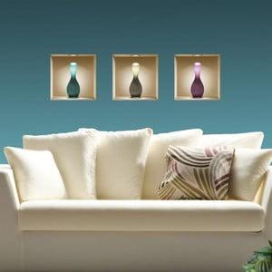 3D samolepky na zeď Vases