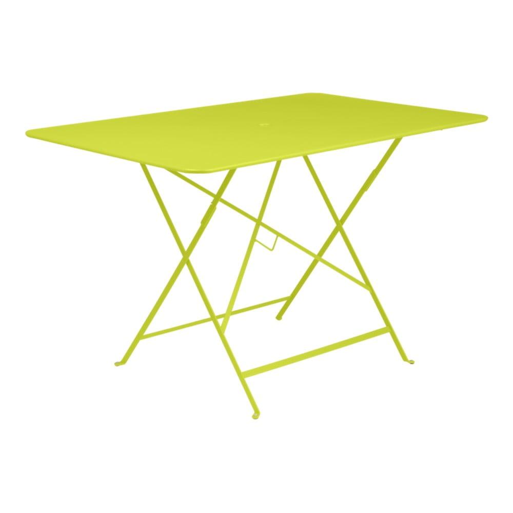 Zelený skládací zahradní stolek Fermob Bistro, 117 x 77 cm