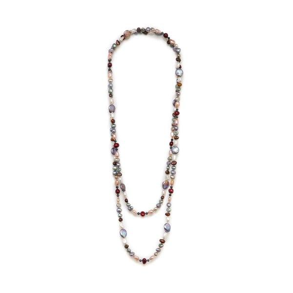 Barevný perlový náhrdelník Kyoto Pearl Baroque