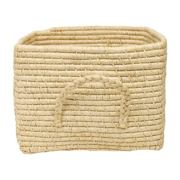 Přírodní košík z rýžových vláken, 35 cm