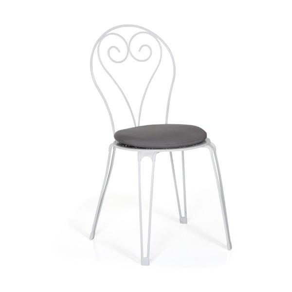 Sada 4 bílých zahradních židlí Brafab Odessa
