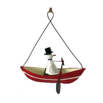 Decorațiune suspendată pentru Crăciun G-Bork Snowman in Rowboat imagine