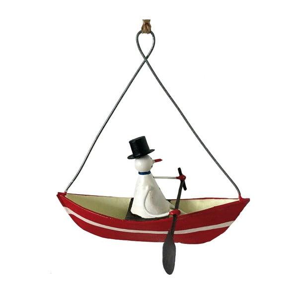 Vianočná závesná ozdoba G-Bork Snowman in Rowboat