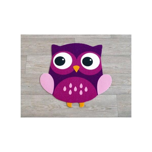 Koberec Owls - fialová sova, 66x66 cm