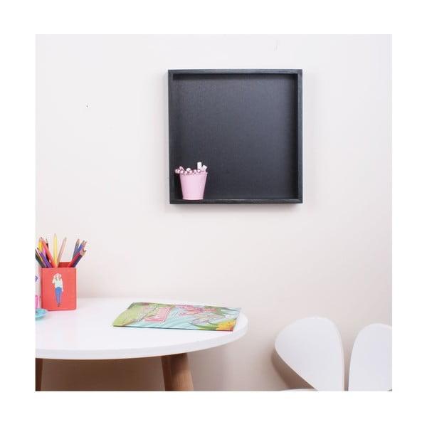 Cube fekete fali polc táblával - North Carolina Scandinavian Home Decors
