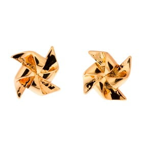 Náušnice Gold Pinwheel
