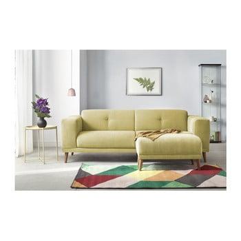 Canapea cu 3 locuri și suport pentru picioare Bobochic Paris Luna, galben de la Bobochic Paris