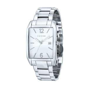 Pánské hodinky Cross Gotham Silver White, 33x38 mm