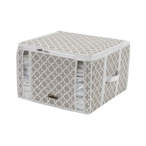 Bílo-béžový úložný box Compactor Compactino, 42 x 40 x 25 cm