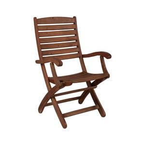 Sada 2 skládacích zahradních židlí z eukalyptového dřeva Crido Consulting
