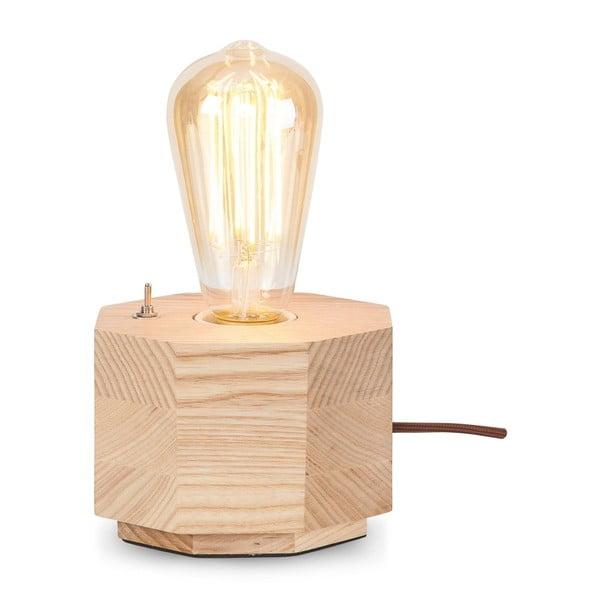 Stolní lampa z dubového dřeva Citylights Kobe One