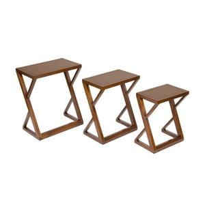 Sada 3 stolků ze dřeva mindi Santiago Pons Classy