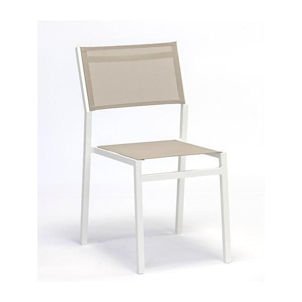 Sada 4 šedobéžových zahradních židlí Ezeis Zephyr