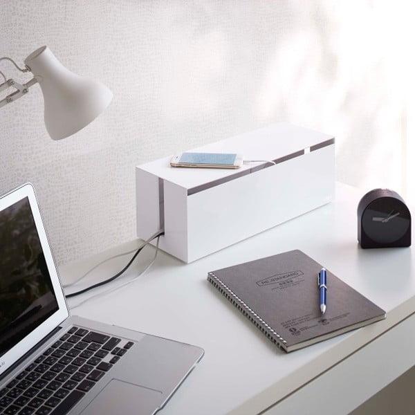 Bílý box na nabíječky Yamazaki Web Cable Box