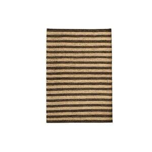 Ručně tkaný koberec Dark Brown Lines Kilim, 110x155 cm