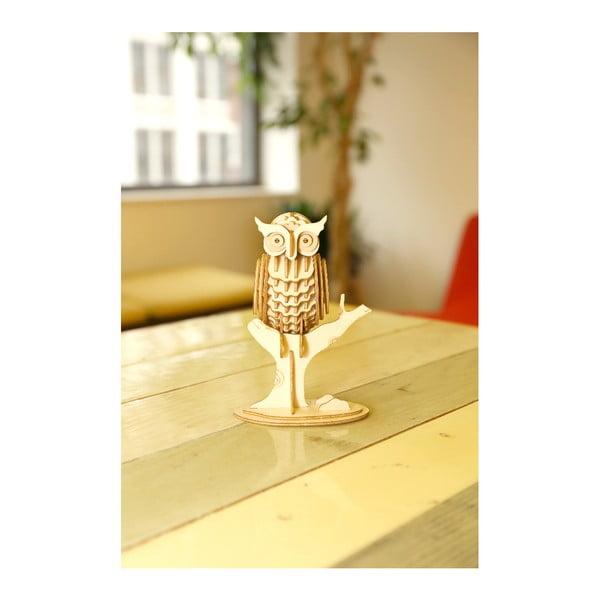 Puzzle 3D din lemn de balsa Kikkerland Owl
