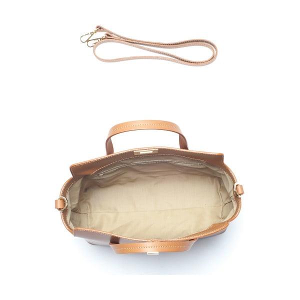 Hnědá kožená kabelka Mangotti Viburnum